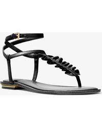Michael Kors - Bella Ruffled Leather Sandal - Lyst