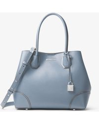 Michael Kors - Mercer Gallery Medium Leather Tote - Lyst