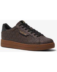 Michael Kors Sneaker Keating con logo - Marrone