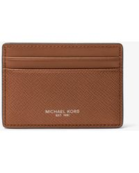 Michael Kors - Harrison Leather Card Case - Lyst