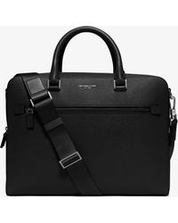 Michael Kors - Borsa portadocumenti Harrison media in pelle - Lyst