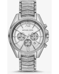 Michael Kors Oversized Whitney Pavé Silver-tone Watch - Metallic