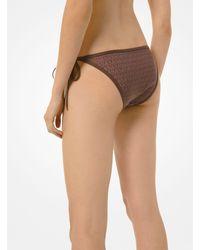 Michael Kors Logo Bikini Bottom - Brown