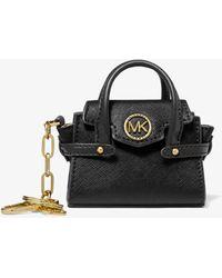 Michael Kors Carmen Leather Bag Charm - Black