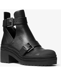 Michael Kors - Corey Leather Cutout Ankle Boot - Lyst