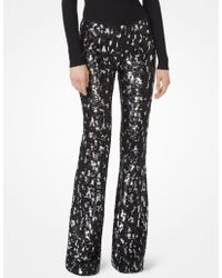 Michael Kors - Leopard Sequined Stretch-tulle Trousers - Lyst