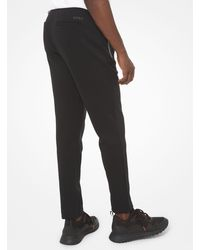 Michael Kors Cotton Blend Track Trousers - Black