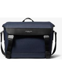 996d47e33552 Michael Kors Brown Woven Signature Messenger Mens Bag in Brown for ...