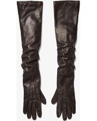 Michael Kors - Leather Gloves - Lyst