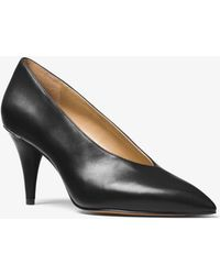 Michael Kors - Lizzy Leather Choked Pump - Lyst