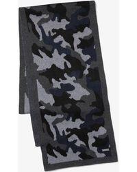 Michael Kors Camouflage Scarf - Gray