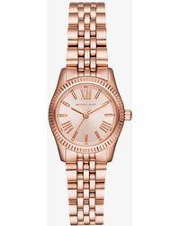 Michael Kors - Petite Lexington Rose Gold-tone Watch - Lyst