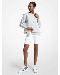 Michael Kors Logo Tape Nylon Blend Bike Shorts - White