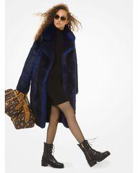 Michael Kors Faux Fur Coat - Blue
