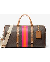 Michael Kors Bedford Travel Extra-large Logo Stripe Weekender Bag - Multicolour