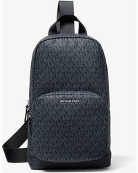 Michael Kors Hudson Logo Sling Pack - Black