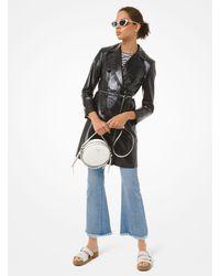 Michael Kors Patent Leather Trench Coat - Black