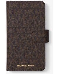 Michael Kors - Logo Folio Case For Iphone 8 - Lyst