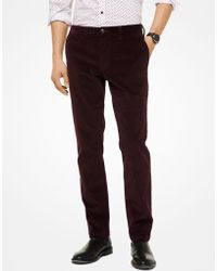 Michael Kors Parker Slim-fit Corduroy Pants - Multicolor