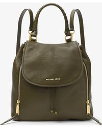 Michael Kors Viv Large Leather Backpack - Green