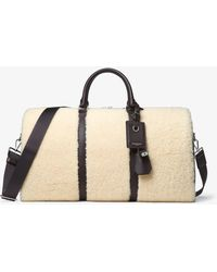 Michael Kors Malmo Shearling Duffle - Natural