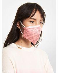 Michael Kors Signature Stretch Cotton Face Mask - Pink