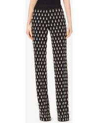 Michael Kors Gem-embroidered Paisley Georgette Pyjama Trousers - Black
