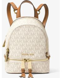 Michael Kors Rhea Mini Logo Backpack - Multicolour