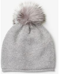 Michael Kors - Cashmere And Fur Pom-pom Beanie - Lyst