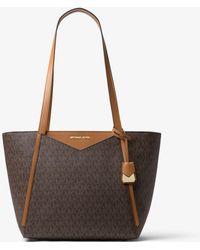 Michael Kors Whitney Small Logo Tote Bag - Brown