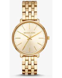Michael Kors - Reloj Pyper en tono dorado - Lyst