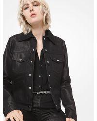 Michael Kors Metallic Denim Jean Jacket