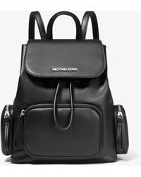 Michael Kors Rucksack Abbey Medium Mit Perforationen - Schwarz
