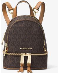 Michael Kors Mini sac à dos Rhea avec logo - Marron
