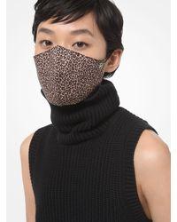 Michael Kors Leopard Stretch Cotton Face Mask - Multicolour