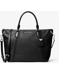 MICHAEL Michael Kors Breloque de sac en cuir - Noir