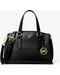 Michael Kors Petit sac porté main Emma en cuir grainé - Noir