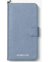 Michael Kors | Saffiano Leather Folio Phone Case For Iphone7/8 Plus | Lyst