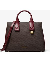 Michael Kors - Rollins Large Logo And Leather Satchel - Lyst
