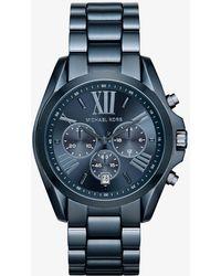 Michael Kors - Oversize Bradshaw Blue Watch - Lyst