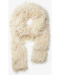 Michael Kors Faux Fur Long Scarf - Natural