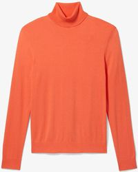 Michael Kors Jersey de cuello vuelto de algodón - Naranja