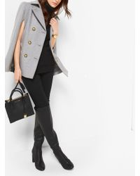 Michael Kors Double-breasted Wool-melton Cape - Grey