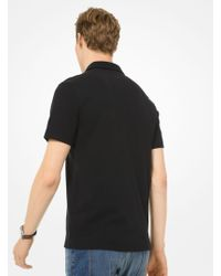 Michael Kors Logo-embroidered Cotton-jersey Polo Shirt - Black