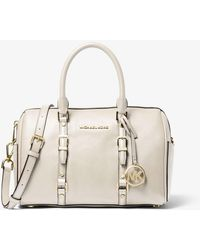MICHAEL Michael Kors - Bedford Legacy Medium Pebbled Leather Duffel Satchel - Lyst