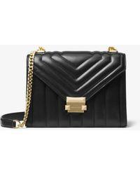Michael Kors Whitney SM Shoulder Bag Black - Schwarz
