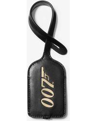 Michael Kors Mmk X 007 Gepäckanhänger Aus Leder - Schwarz