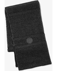 Michael Kors Striped Scarf - Black