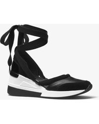 Michael Kors - Vega Leather Lace-up Sneaker - Lyst