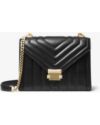 MICHAEL Michael Kors Whitney Large Shoulder Bag Black - Noir